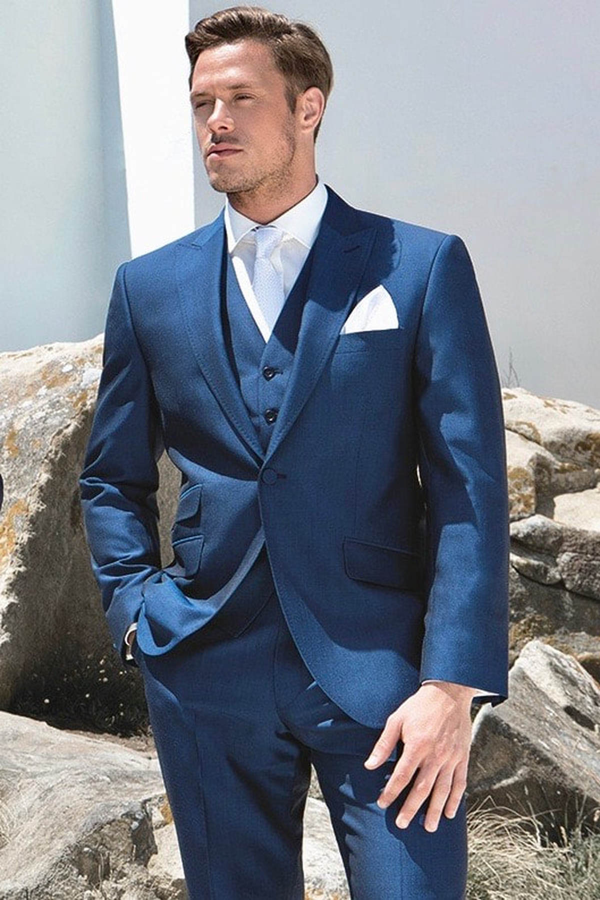 Wedding Suits; Royal Blue Lightweight Mohair - PARKERS FORMAL WEAR