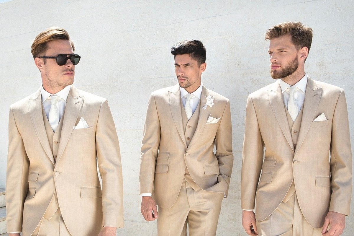 Wedding Suits; Ivory Lightweight Mohair - PARKERS FORMAL WEAR