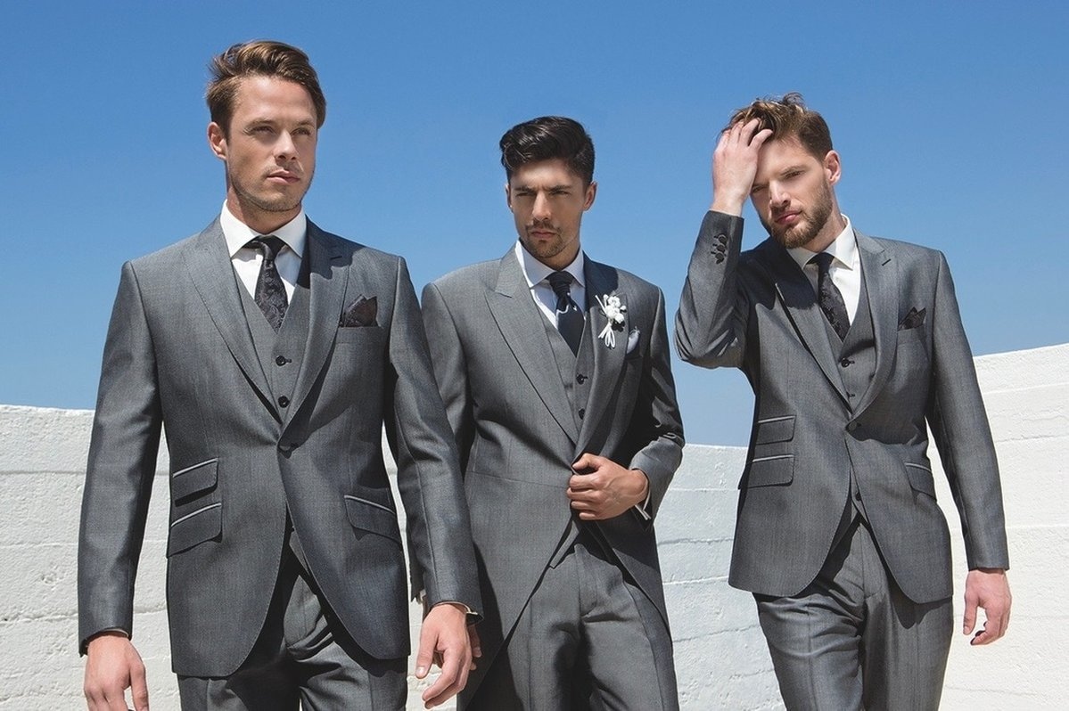 Wedding Suits; Silver Grey Lightweight Mohair - PARKERS FORMAL WEAR